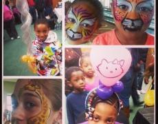 Pintacaritas y figuras de globos para niños con necesidades especiales en CT, MA, RI y NH