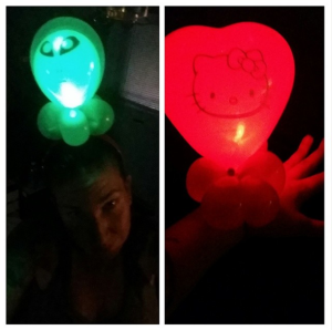 LED balloon twisting